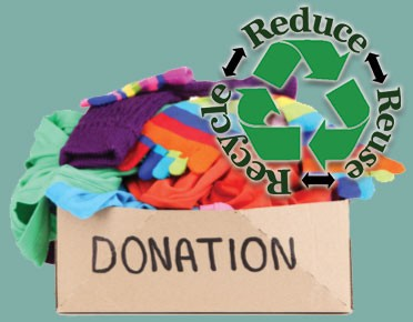 Recycle, reduce, reuse or donate
