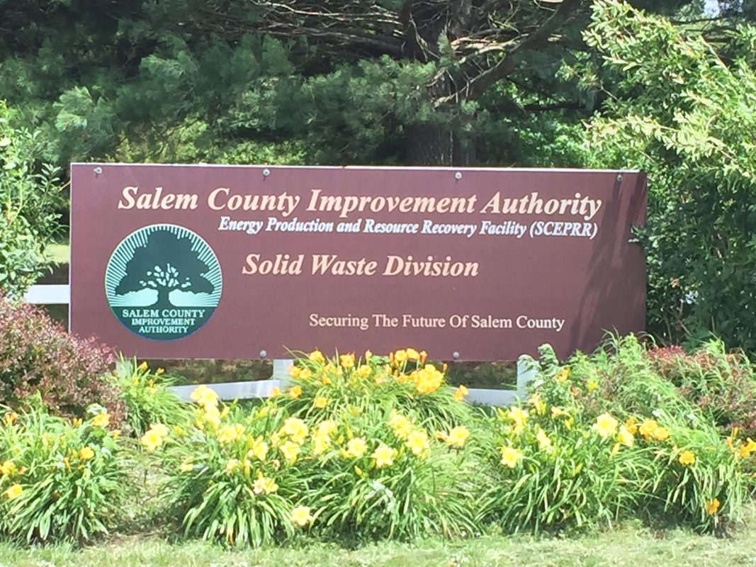 SCIA entry sign with plants surrounding it