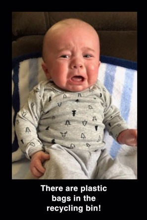 Humorous picture of crying baby