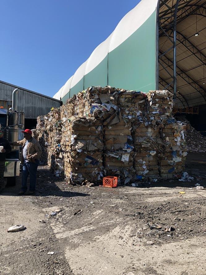 Cardboard Bale - Recycling Coordinators Tour Omni Recycling Facility