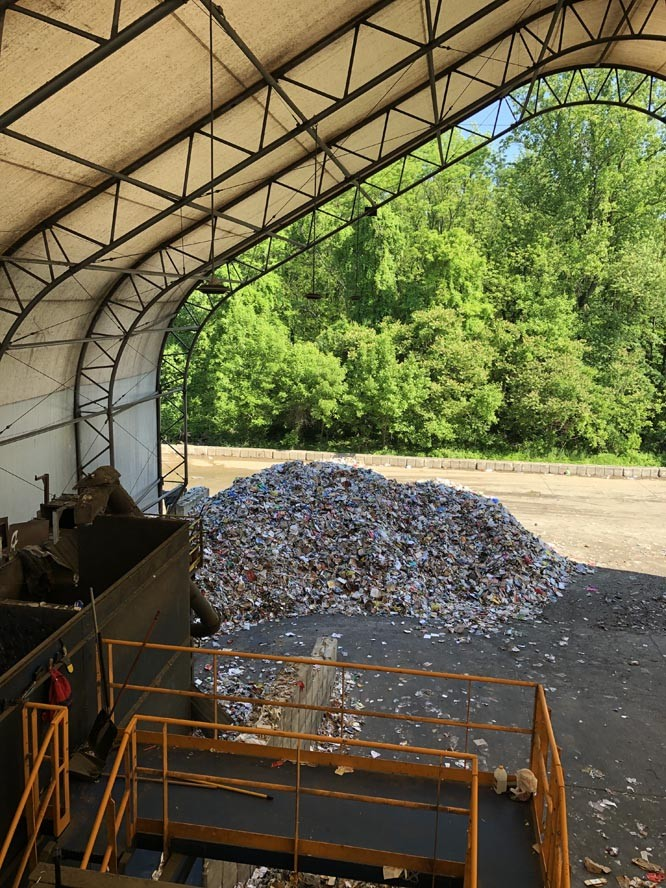 Tipping Floor2 - Recycling Coordinators Tour Omni Recycling Facility