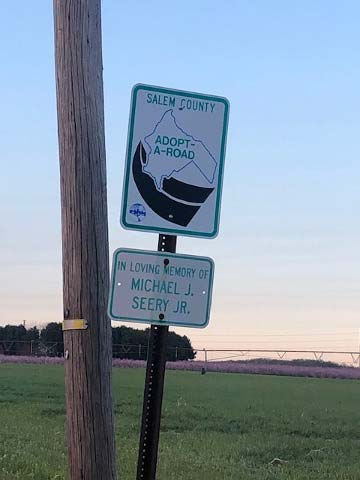 Salem County Adopt A Road steet-sign