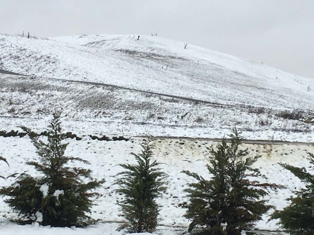 Peak of the Landfill covered with snow