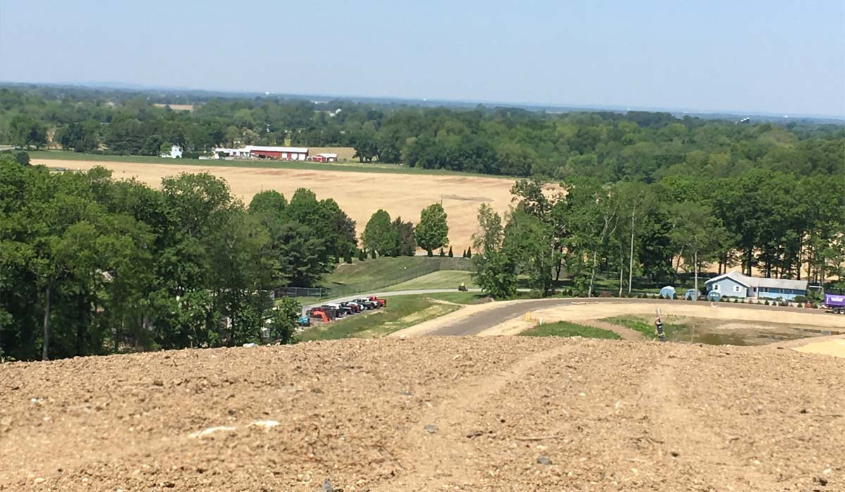 View of Mannington from top of the landfill mound