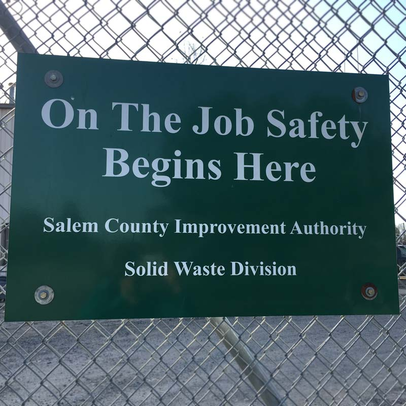 Sign saying On the Job Safety Begins Here